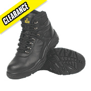 Amblers Water-Resistant Safety Boots Black Size 10